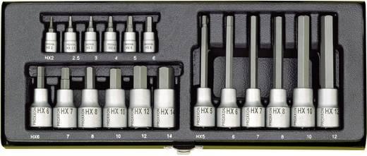 """Proxxon hatszögkulcs készlet belső hatszögcsavarokhoz 6,3mm+12,5mm (1/4""""+1/2"""" ) hajtáshoz, 18 részes"""