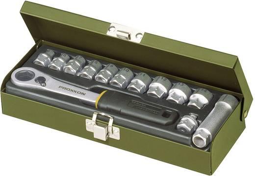 """Proxxon 13 részes racsnis dugókulcs készlet, racsnis krova készlet 5,5mm - 14mm között 6,3mm (1/4"""") hajtáshoz"""