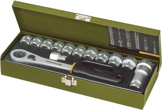"""Proxxon 14 részes racsnis dugókulcs készlet, racsnis krova készlet 13mm - 27mm között 12,5mm (1/2"""" ) hajtáshoz"""