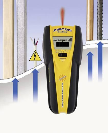 Vezetékkereső, fémkereső, gerendakereső műszer LCD kijelzővel Zircon MultiScanner i320 OneStep 63681