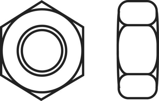 Toolcraft műanyag hatlapfejű anya, M4, DIN 934, 10 db