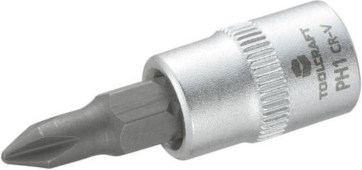 Dugókulcs betét 6,3 mm (1/4) kereszthornyú PH1 bittel, 37 mm, TOOLCRAFT