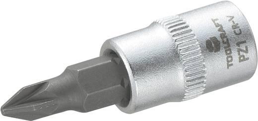 Dugókulcs betét 6,3 mm (1/4) kereszthornyú PZ1 bittel, 37 mm, TOOLCRAFT
