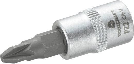 Dugókulcs betét 6,3 mm (1/4) kereszthornyú PZ2 bittel, 37 mm, TOOLCRAFT