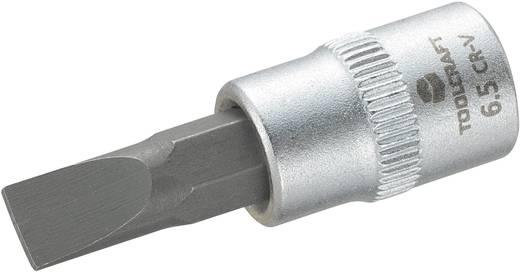 Dugókulcs betét 6,3 mm (1/4) 6,5 mm-es egyenespengéjű bittel, 37 mm, TOOLCRAFT