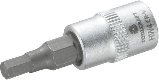 Dugókulcs betét 6,3 mm (1/4) 4 mm-es belsőkulcsnyílású hatlapú bittel, 37 mm, TOOLCRAFT