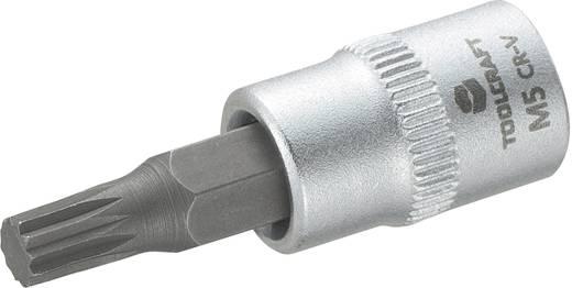 Dugókulcs betét 6,3 mm (1/2), sokfogú bittel 5mm, hossz: 37 mm, TOOLCRAFT