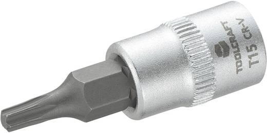 Dugókulcs betét 6,3 mm (1/4), T-profillal T15, hossz: 37 mm, TOOLCRAFT