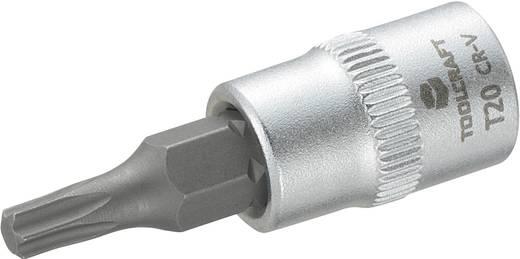 Dugókulcs betét 6,3 mm (1/4), T-profillal T20, hossz: 37 mm, TOOLCRAFT