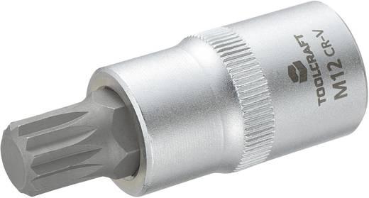 Dugókulcs betét 12,5 mm (1/2), sokfogú bittel M12, hossz: 55 mm, TOOLCRAFT