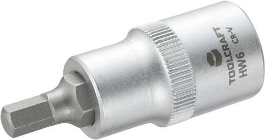 Dugókulcs betét 12,5 mm (1/2), hatlapú bittel 6mm, hossz: 55 mm, TOOLCRAFT