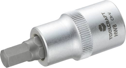 Dugókulcs betét 12,5 mm (1/2), hatlapú bittel 8mm, hossz: 55 mm, TOOLCRAFT