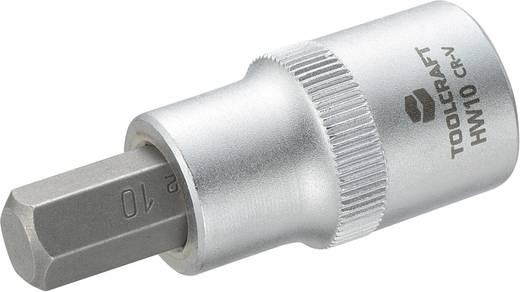 Dugókulcs betét 12,5 mm (1/2), hatlapú bittel 10mm, hossz: 55 mm, TOOLCRAFT