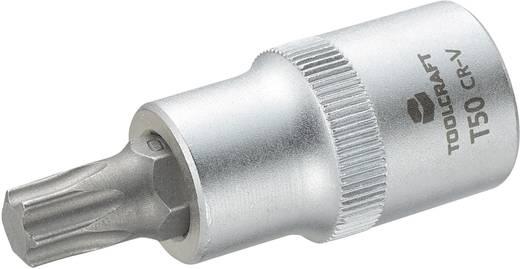 Dugókulcs betét 12,5 mm (1/2), T-profillal T50, hossz: 55 mm, TOOLCRAFT