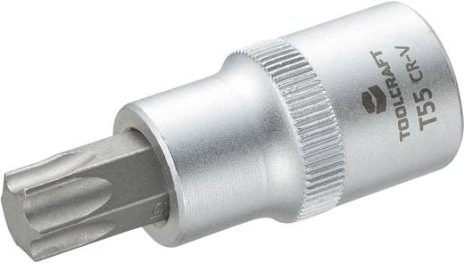 Dugókulcs betét 12,5 mm (1/2), T-profillal T55, hossz: 55 mm, TOOLCRAFT