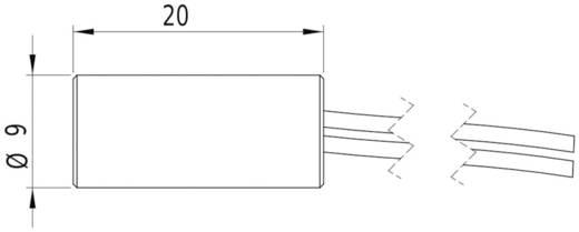 Lézermodul vonal piros 5 mW Laserfuchs LFL635-5-6(9x20)90