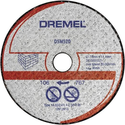 Dremel 2615S520JA DSM 520 Tégla és falazat vágótárcsa 77mm Ø