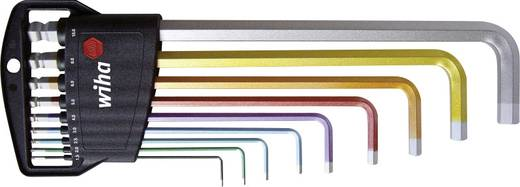 Hatszögkulcs készlet, színjelölésű, gömbfejű 9 részes készlet 1,5 mm - 10 mm-ig Wiha 369H9