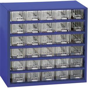 30 részes fiókos alkatrésztároló szekrény, 306 x 282 x 155 mm MARS Svratka