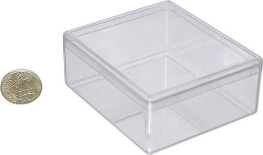 1 részes alkatrésztároló doboz, átlátszó, 68 x 60 x 26 mm