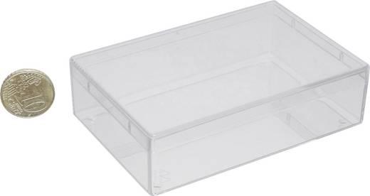 1 részes alkatrésztároló doboz, átlátszó, 115 x 75 x 30 mm