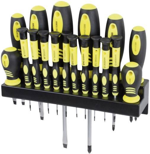 Csavarhúzó készlet 18 részes egyenes pengéjű/PH/TORX® Mannesmann 11410