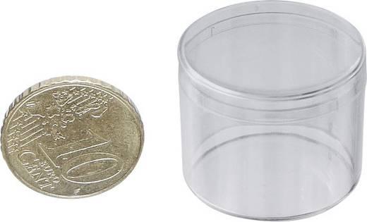 1 részes kerek alkatrésztároló doboz, átlátszó, Ø 26 x 17,5 mm