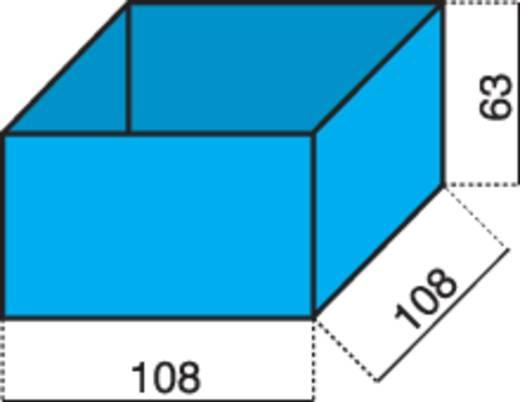 Alutec 1 részes alkatrésztároló, kék, 108 x 108 x 63 mm