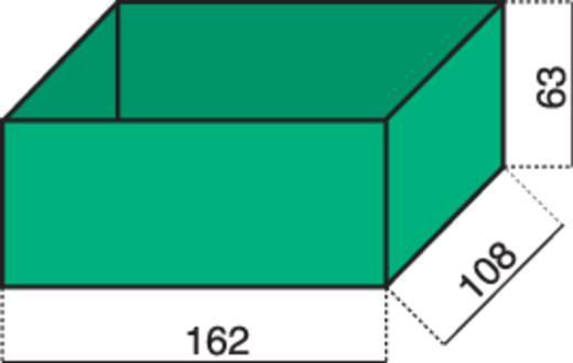 Alutec 1 részes alkatrésztároló, zöld, 162 x 108 x 63 mm