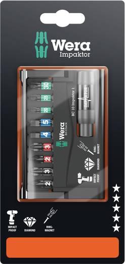 BIT készlet, Torx, kereszthornyú PH, PZ és belső hatlapú BIT-ekkel 10 részes készlet Wera 8740/51/55/67-9/IMP DC 0507398