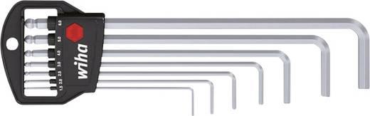 Imbuszkulcs készlet klasszikus tartóval, gömbfejű, 7 részes, Wiha 369H7 01416