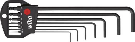 Imbuszkulcs készlet klasszikus tartóval, gömbfejű, 7 részes, Wiha 369H7B 03878