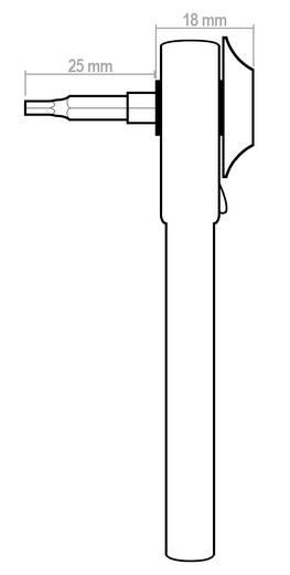 Profi mini racsnis kulcs 4 mm-es bitekhez, fém, Donau MBS08