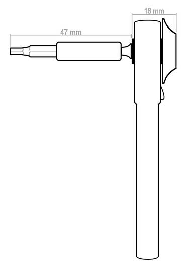 Profi mini racsnis kulcs 4 mm-es bitekhez, fém, Donau MBS09