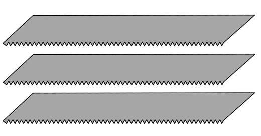 3 db fűrészlap a formatervező késhez, Donau MS03