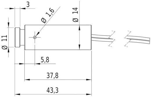 Pont lézermodul, kék 1 mW Picotronic DD405-1-3(14x45)