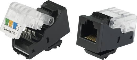 Moduláris hüvely Alj, egyenes Pólusszám: 6P6C 93014c936 Fekete Tru Components Tartalom: 1 db
