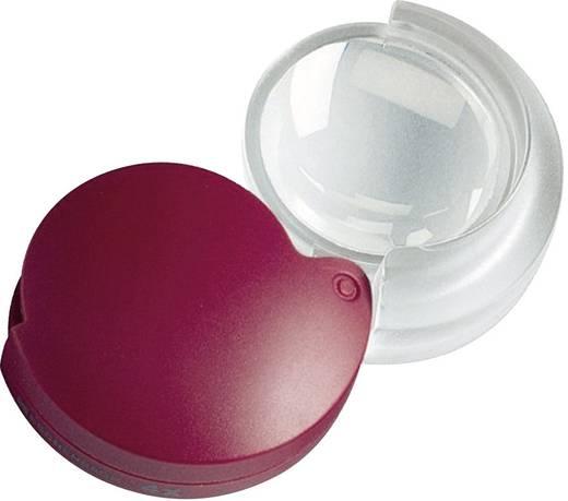 Összecsukható nagyító bőr tokban, 3,5 mm, 4,0-szeres, piros, Mobilent Eschenbach 171014 4,0 x 35 mm