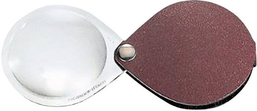 Összecsukható nagyító bőr tokban, kerek, 50 mm,3,5-szeres, burgundi vörös Eschenbach 1740150 3,5 x 50 mm