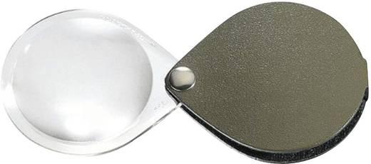Összecsukható nagyító bőr tokban, kerek, 60 mm,3,5-szeres, fenyőzöld Eschenbach 1740260 3,5 x 60 mm