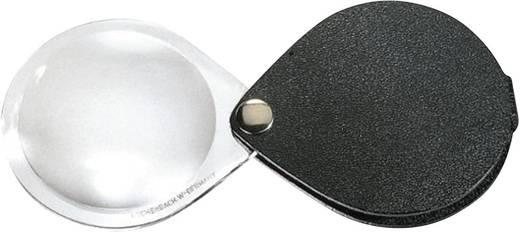 Összecsukható nagyító, zsebnagyító 6 x-os nagyítású (Ø) 30 mm fekete színű Eschenbach 1740530