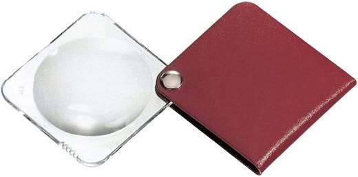 Összecsukható nagyító bőr tokban, kerek, 60 mm,3,5-szeres, kármin vörös Eschenbach 1752160