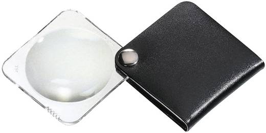 Összecsukható nagyító, zsebnagyító 3.5 x-s nagyítású (Ø) 50 mm fekete színű Eschenbach 1752550