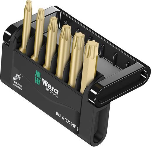 Edzett, ötvözött szerszámacél 6 részes Torx BIT készlet Wera Mini-Check TX HF 05056476001