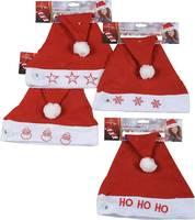 Weihnachtsmütze & Licht 78425 Pirosfehér