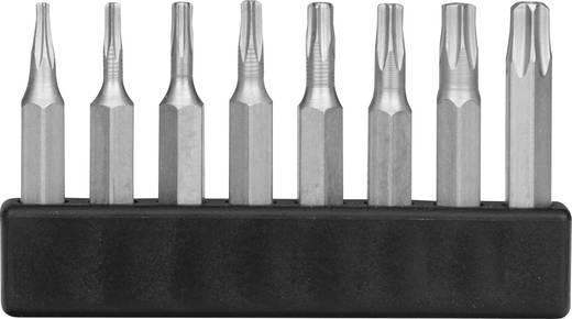 8 részes mini torx bitkészlet, T-profil belső furattal, 28 mm, Donau MBS68