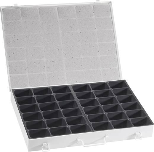 Tároló doboz, 460 x 347 x 54 mm, 36 rekeszes, Alutec 10510
