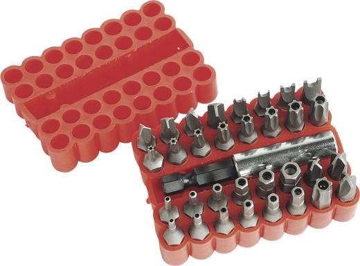 Cserélhető BIT készlet mágneses BIT tartóval 33 részes Mannesmann 29733
