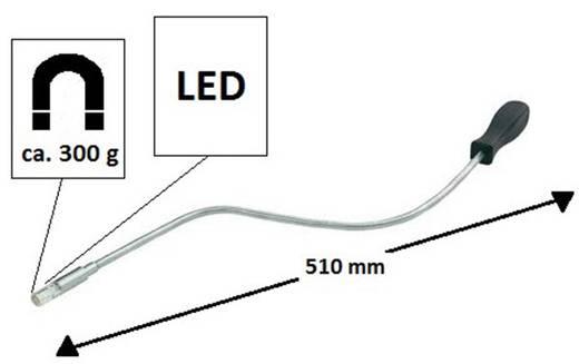 Hajlítható, flexibilis mágneses keresőpálca, világítással Basetech 820681