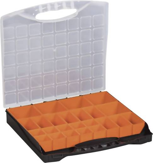 Alutec 24 részes alkatrésztároló doboz, 400 x 370 x 58 mm, Profi 400, 56120